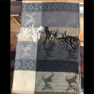 Long stylish winter scarf